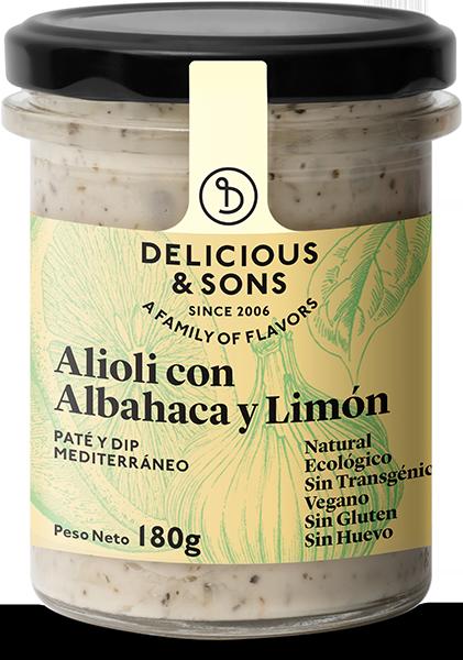 Alioli con albahaca y limón ecológico — Delicious & Sons
