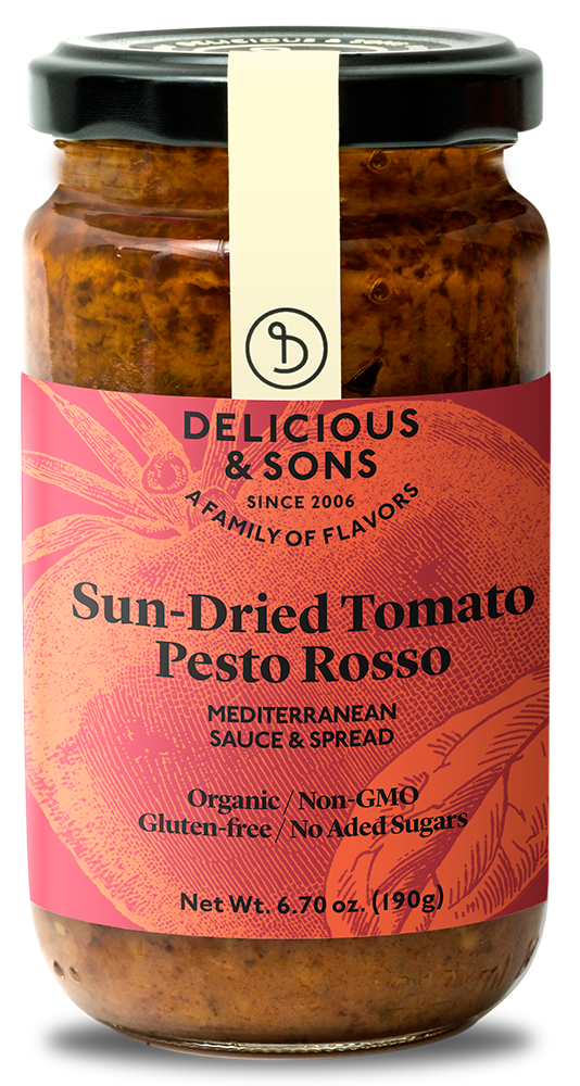 Organic Sun-Dried Tomato Pesto Rosso — Delicious & Sons