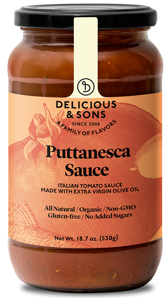Organic puttanesca sauce — Delicious & Sons