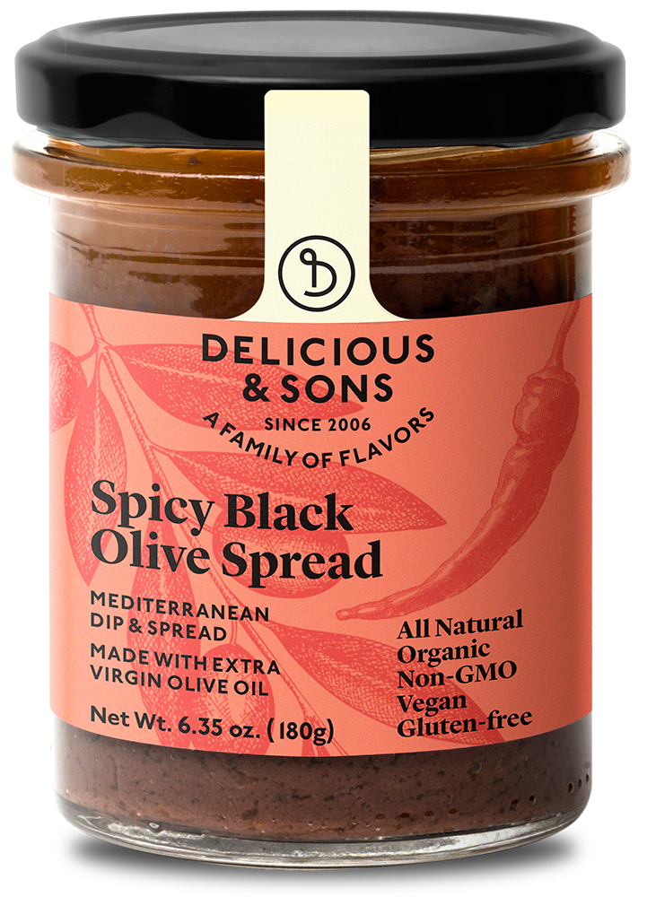 Organic spicy black olive spread — Delicious & Sons