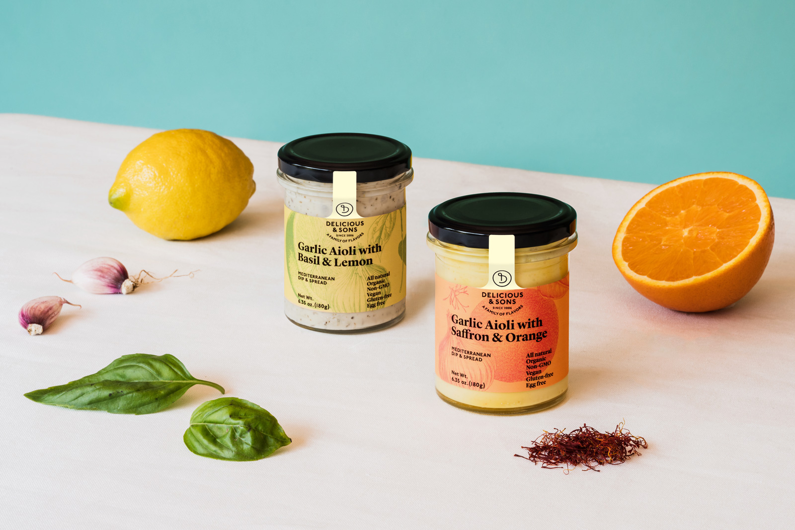 Mediterranean condiments — Delicious & Sons