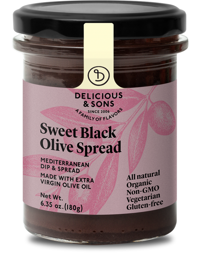 Organic sweet black olive spread — Delicious & Sons