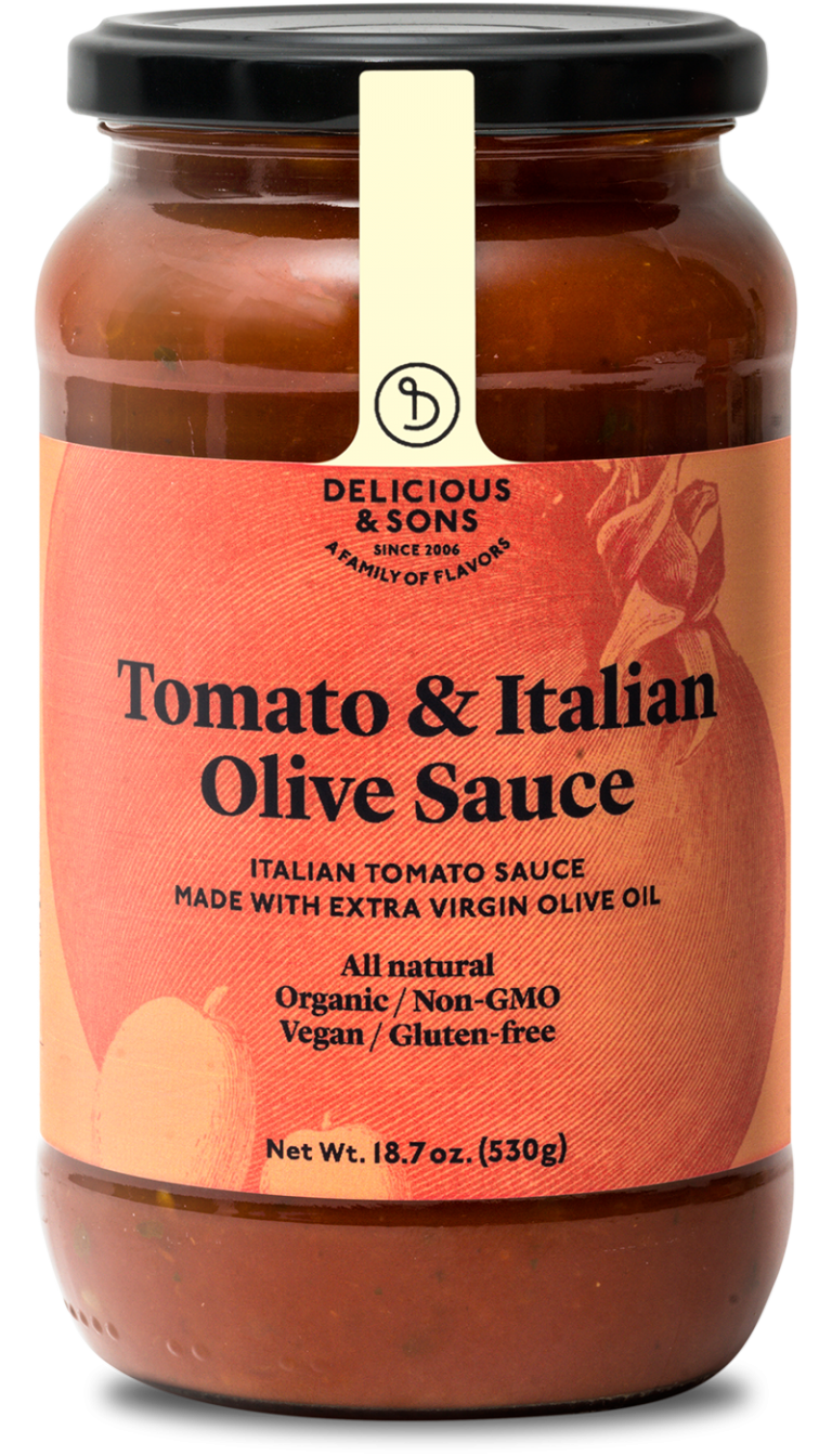 Organic tomato and Italian olive sauce — Delicious & Sons