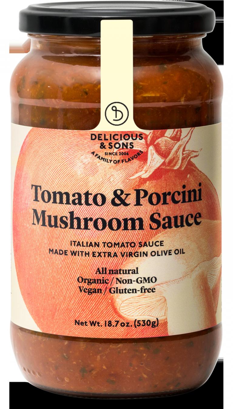 Organic tomato & porcini mushroom sauce — Delicious & Sons