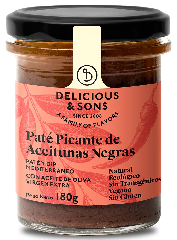 Paté picante de aceitunas negras ecológico — Delicious & Sons