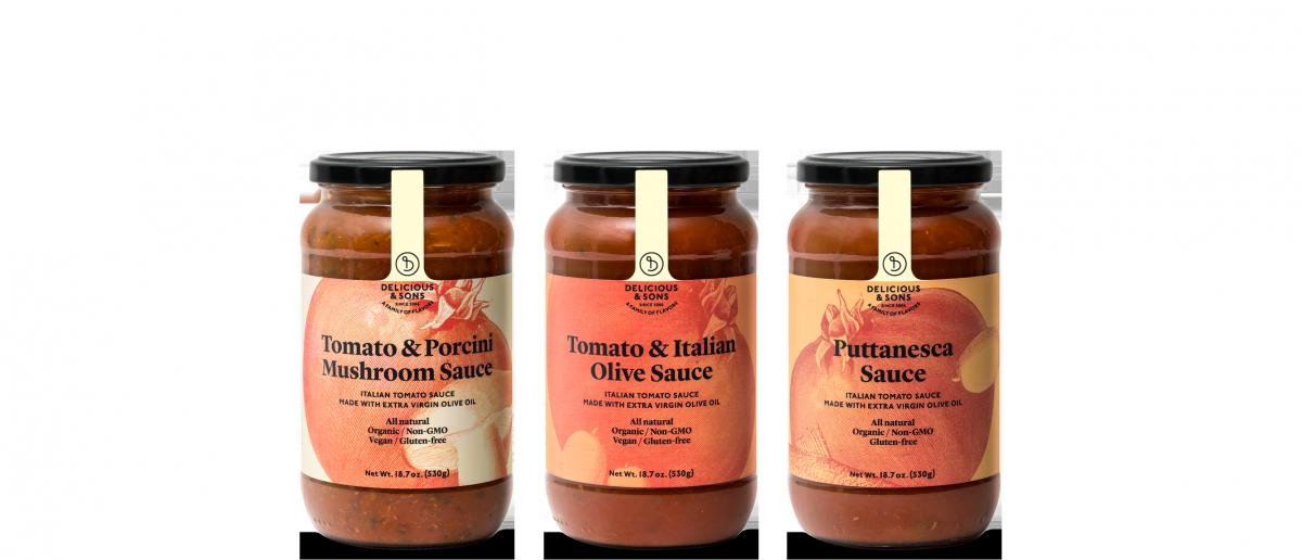 Salsas de tomate Italianas — Delicious & Sons