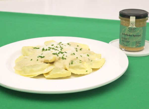 artichoke pasta sauce recipe image by delicious & sons