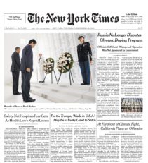The New York Times Cover 2016.12.28