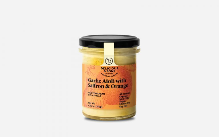 gourmet aioli sauce with saffron & orange by delicious & sons