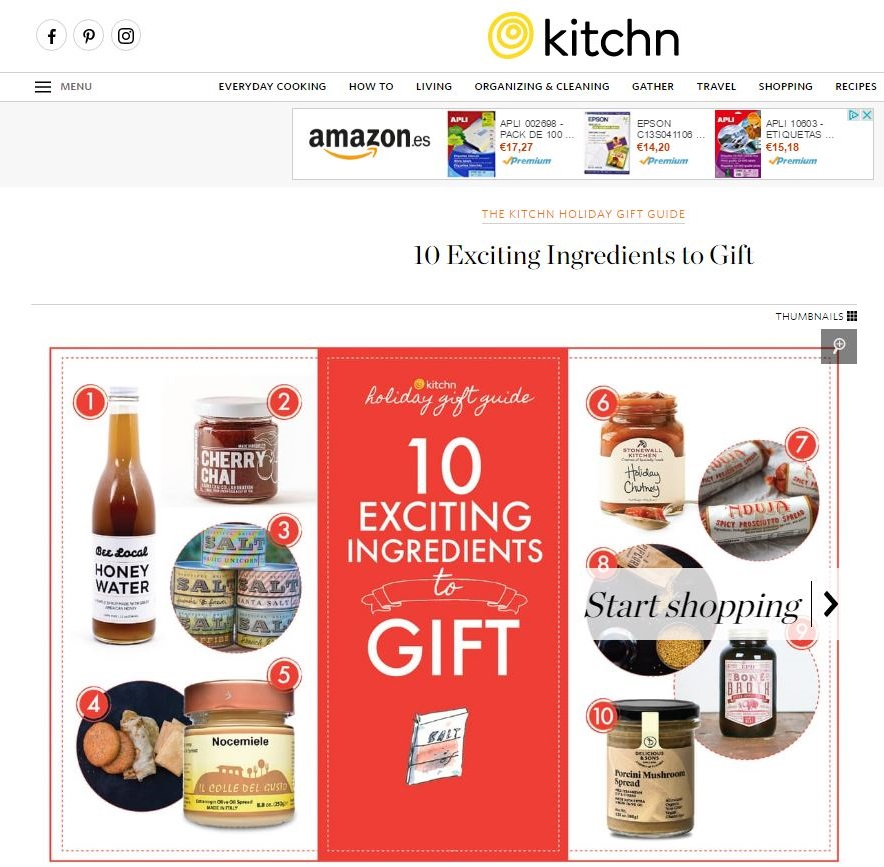 Delicious & Sons in the TheKitchn - 10 Exciting Ingredients to Gift image