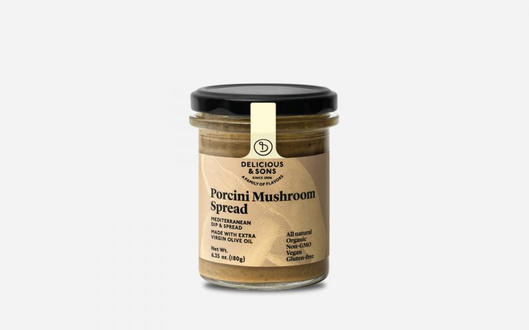 organic porcini mushroom spread by Delicious & Sons