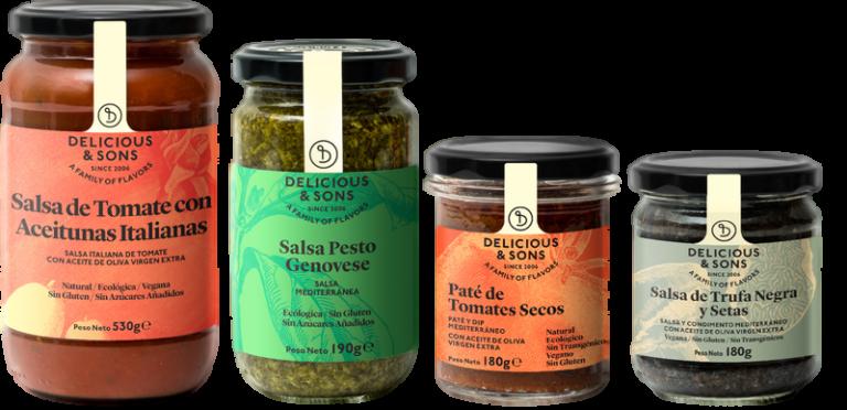 Pack de Salsas para Pasta (4 uds.) — Delicious & Sons