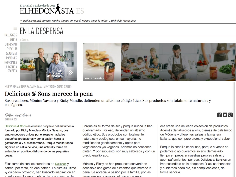 El Hedonista: Delicious & Sons merece la pena