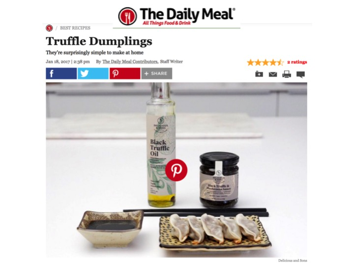 The Daily Meal receta de gyozas con trufa