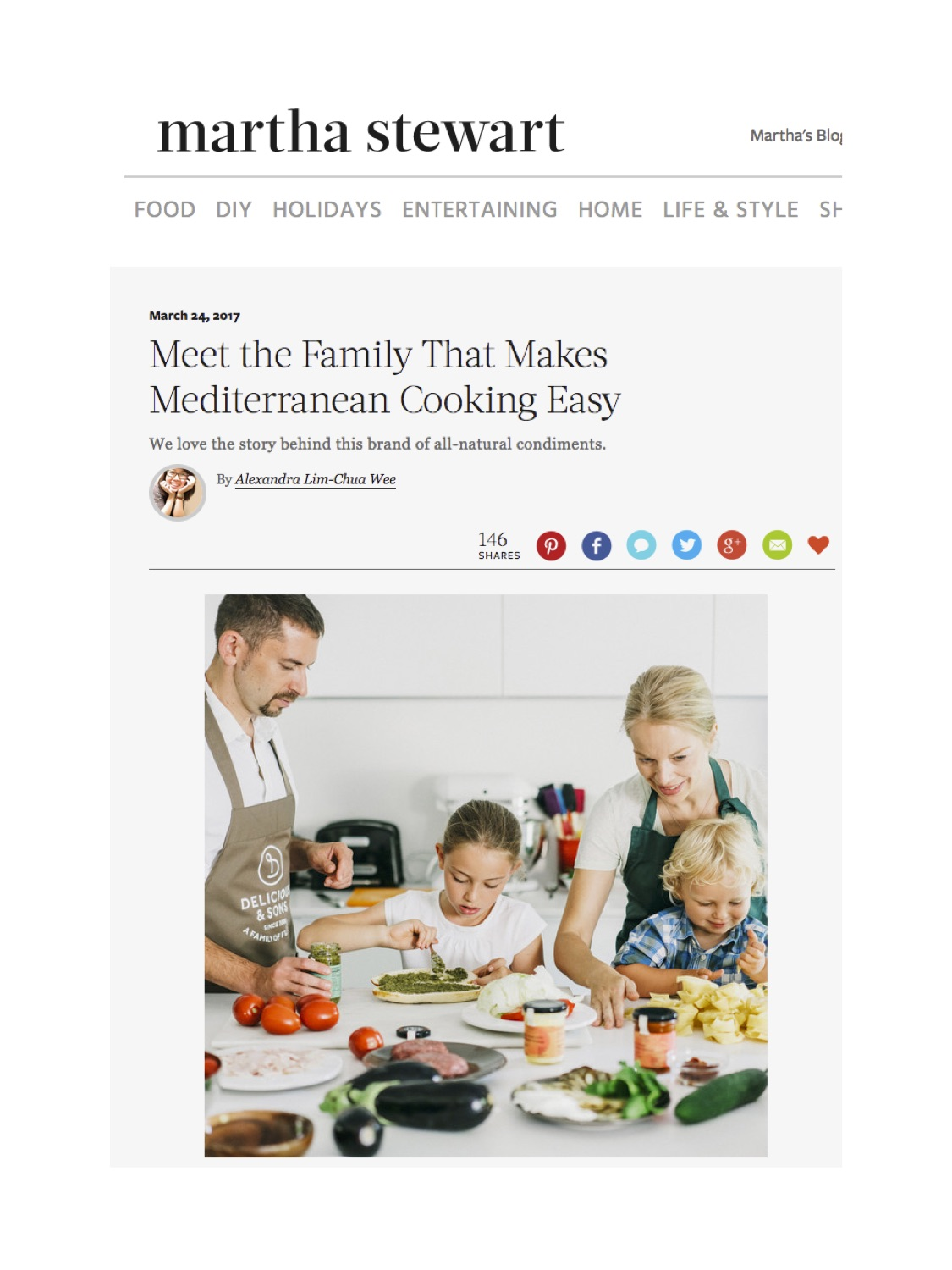 Martha Stewart meet the family that makes Mediterranean cooking easy by Delicious & Sons