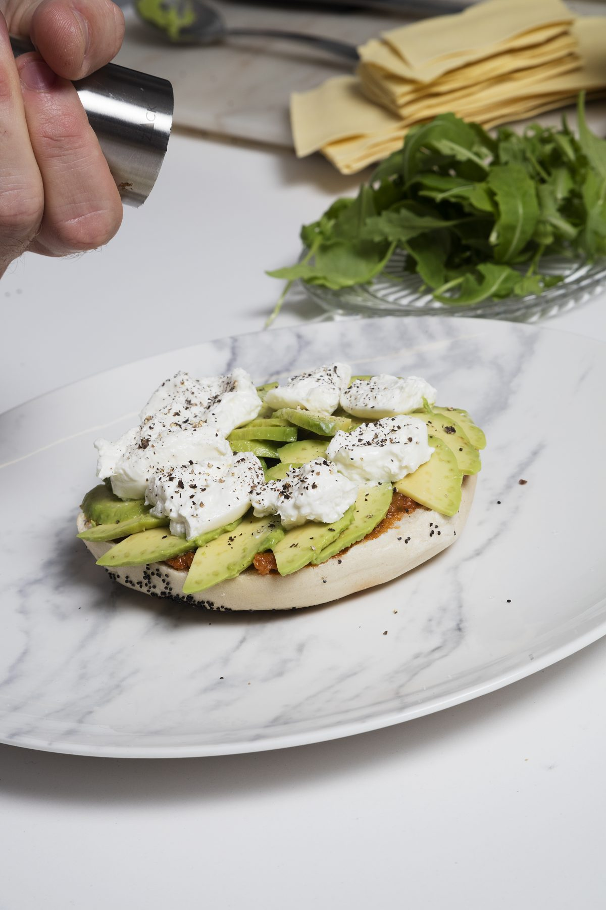 Burrata & Avocado Bagel Sandwich by Sergi Ferrer — Delicious & Sons