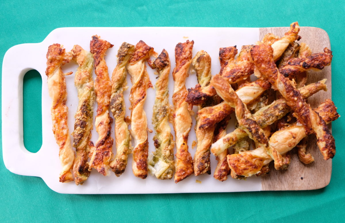 Holiday Pesto & Parmesan Cheese Straws — Delicious & Sons