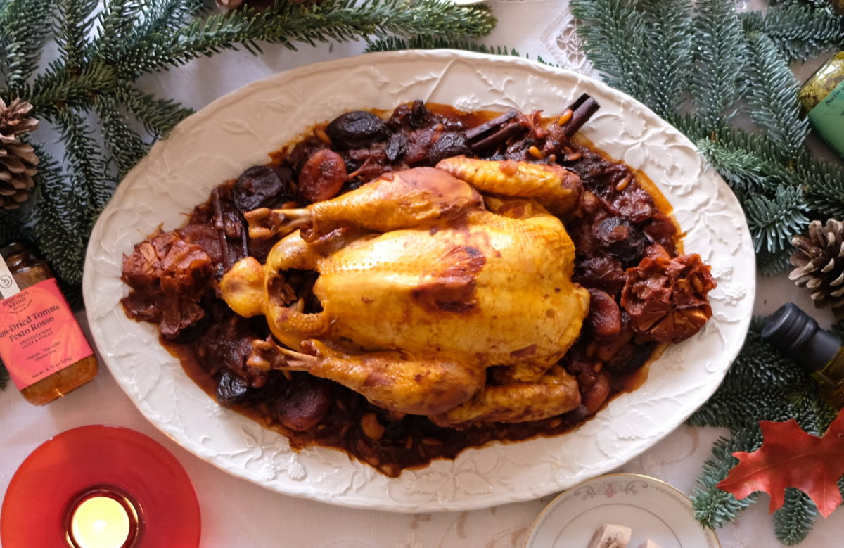 Traditional Christmas Chicken Stew with Prunes and Dried Apricots — Delicious & Sons