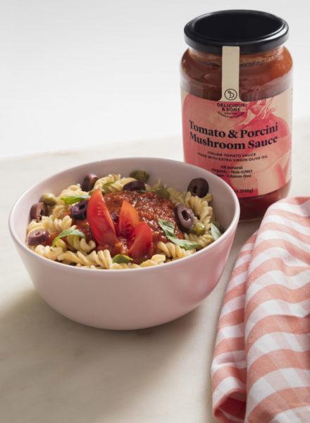 Pasta-Proteica-con-salsa-de-tomate