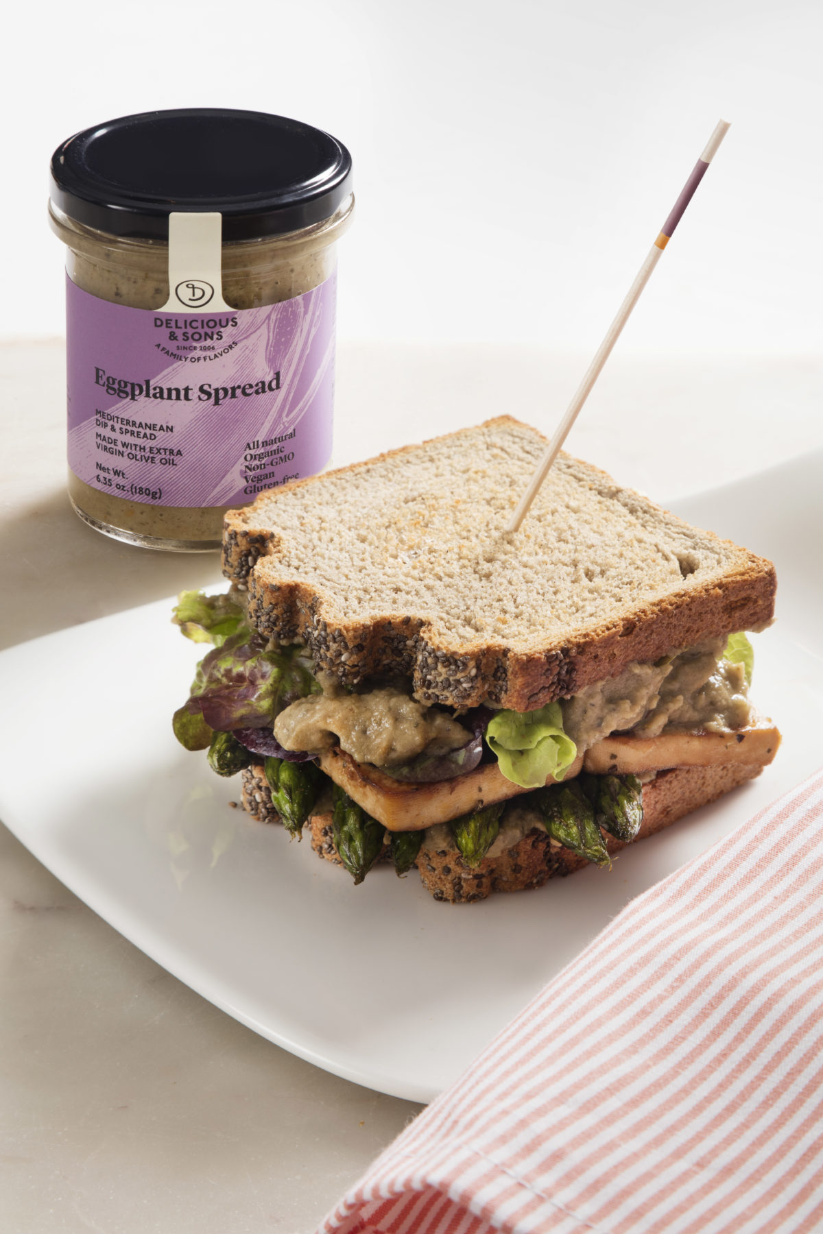 Vegan Sandwich with Eggplant Spread by Míriam Fabà — Delicious & Sons