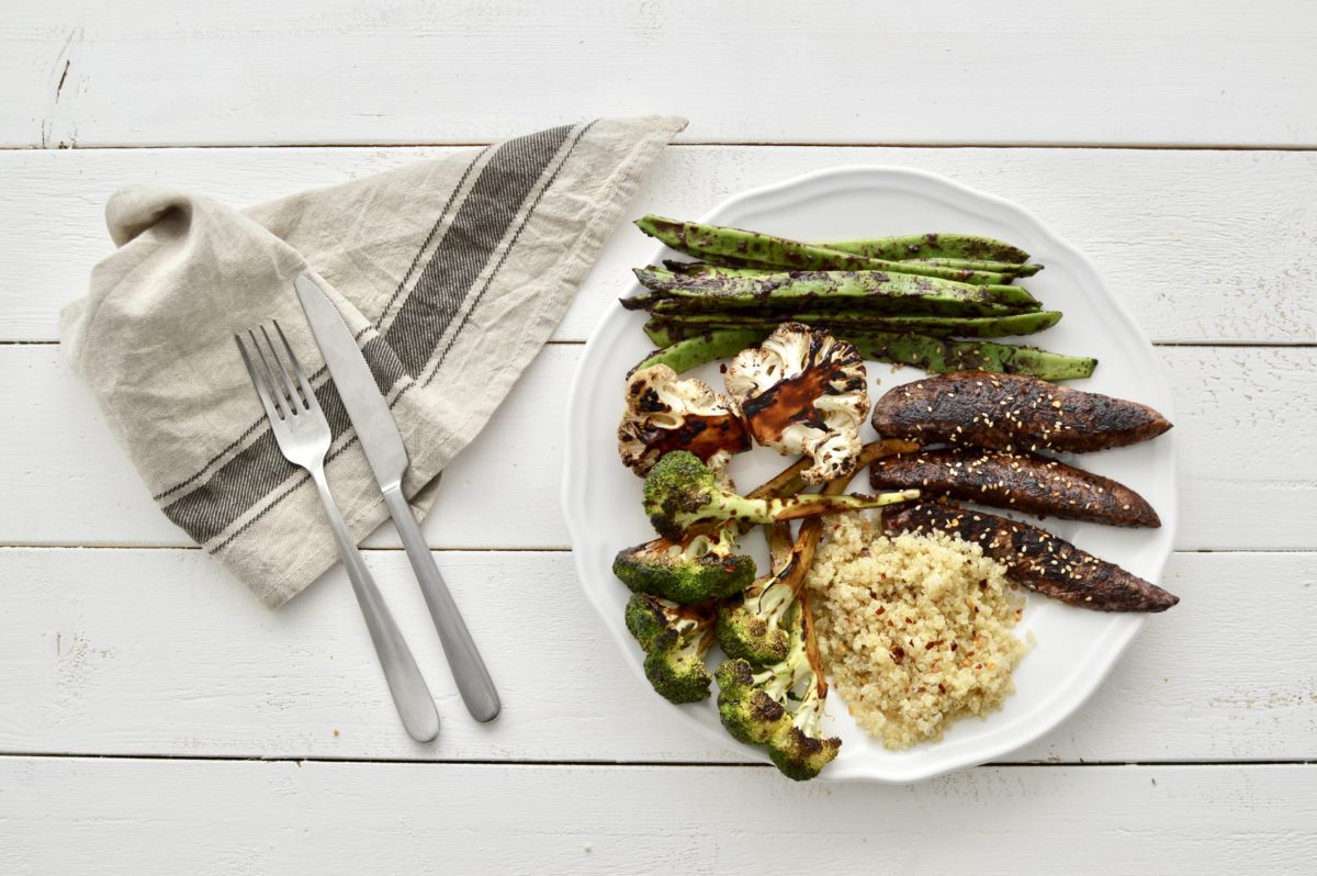 Balsamic Grilled Turkey with Vegetables and Quinoa — Delicious & Sons
