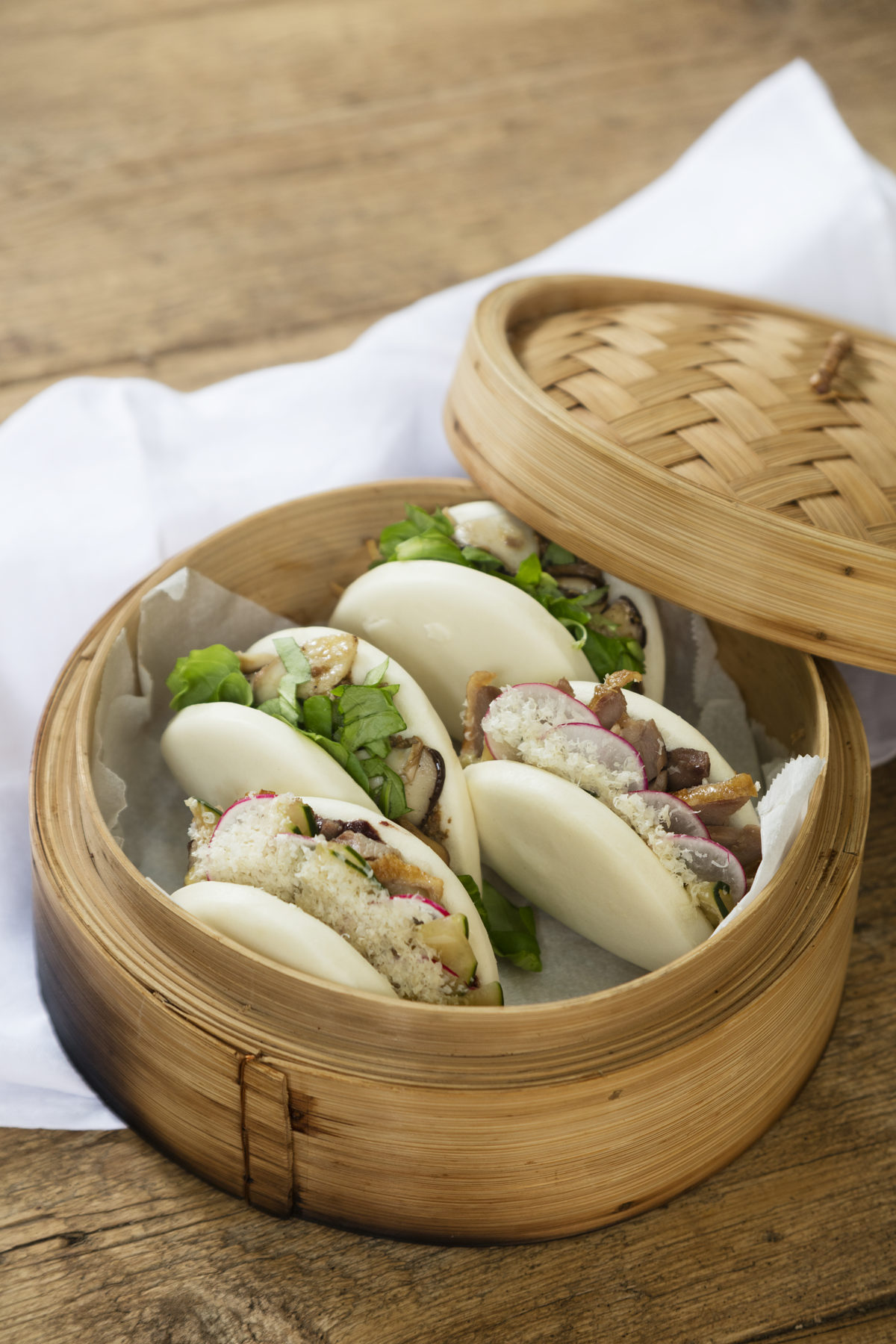Peking Duck Bao with Mediterranean Hoisin Sauce — Delicious & Sons