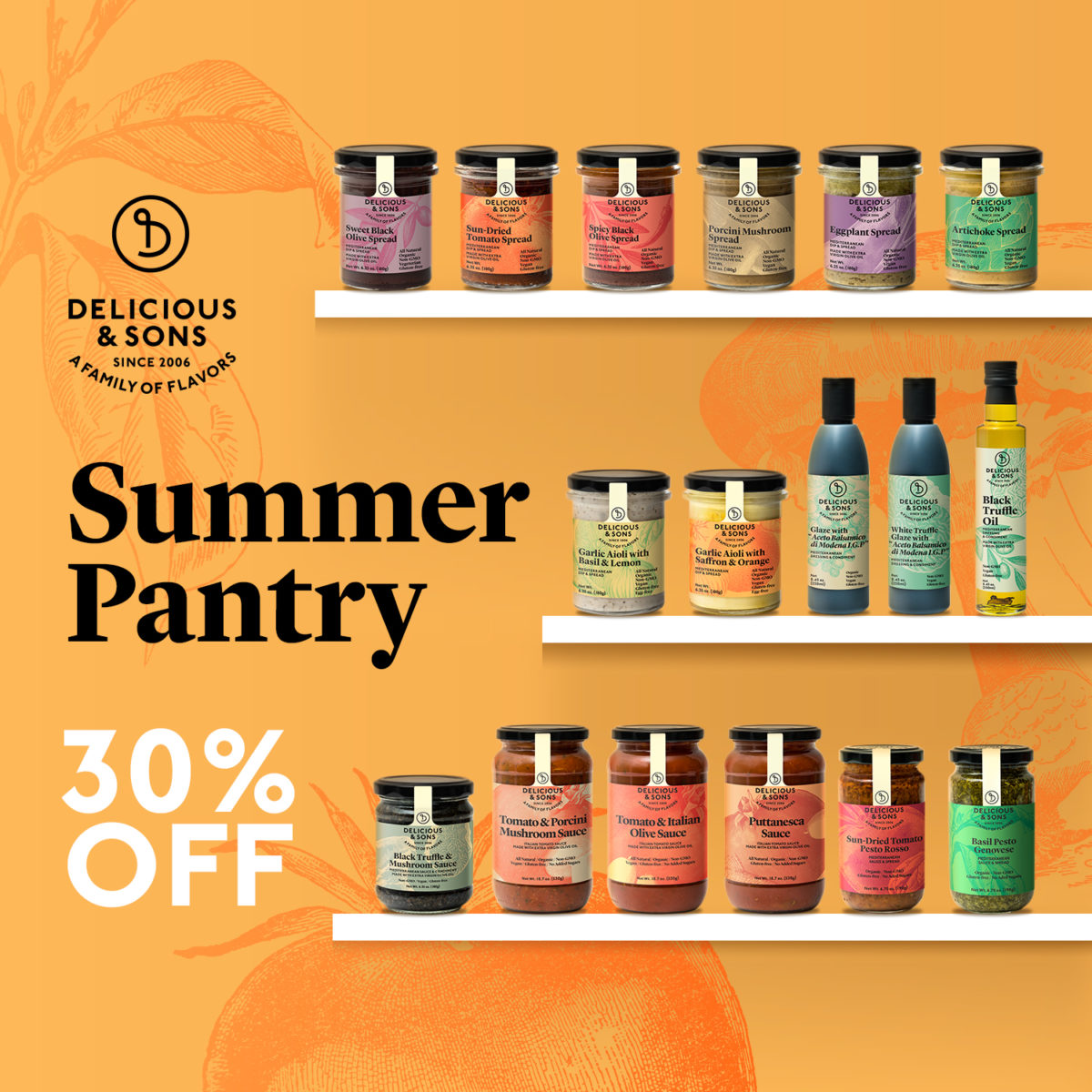 Stock Your Summer Pantry – 30% discount — Delicious & Sons