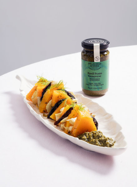 Roasted-Squash-with-Organic-Pesto