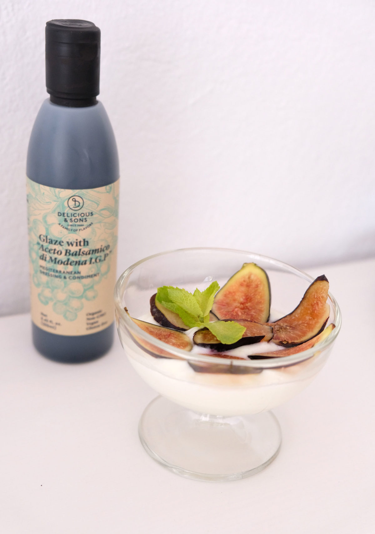 Lemon yogurt with figs and Balsamic Glaze by Ricky Mandle — Delicious & Sons