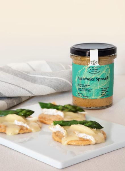 Brie-Artichoke-Spread-Crostini