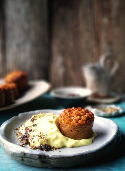 muffins-de-lentejas-rojas-con-espuma-de-coco