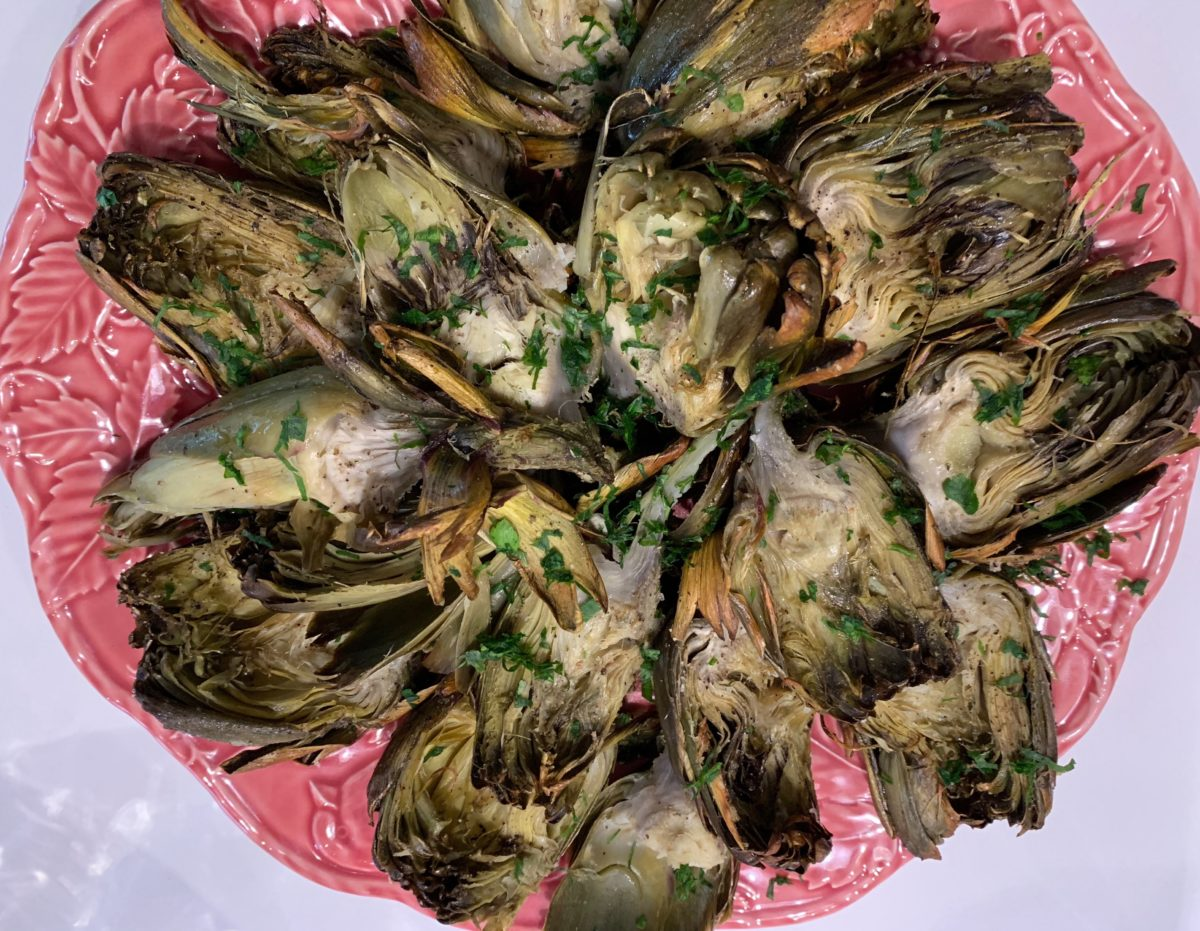 Roasted Artichokes with Basil Aioli by Mónica Navarro — Delicious & Sons