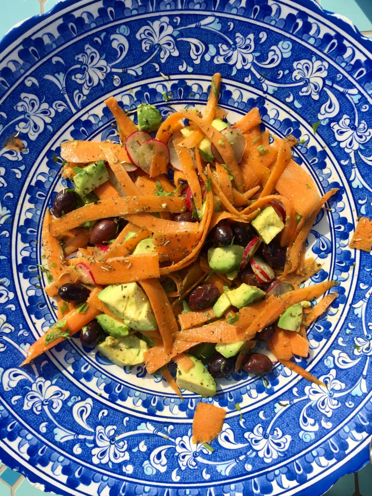 Carrot & Avocado Salad with Truffle Oil by Ricky Mandle — Delicious & Sons