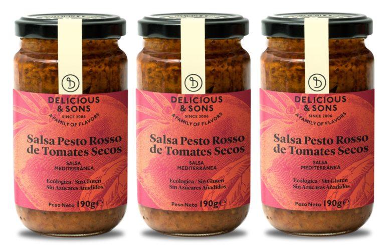 Salsa Pesto Rosso de Tomates Secos ecológico (Pack de 3) — Delicious & Sons