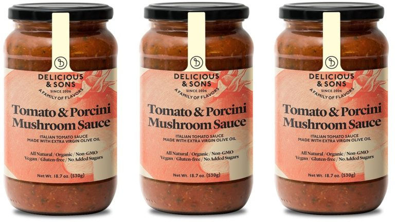 Organic Tomato & Porcini Mushroom Sauce (Pack of 3) — Delicious & Sons