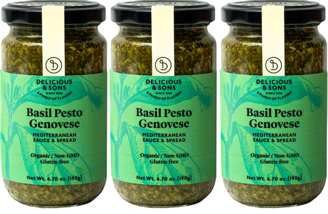 Organic Basil Pesto Genovese (Pack of 3) — Delicious & Sons