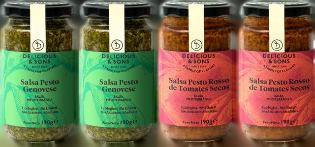 Salsa Pesto Genovese y Salsa Pesto Rosso (Pack de 4) — Delicious & Sons