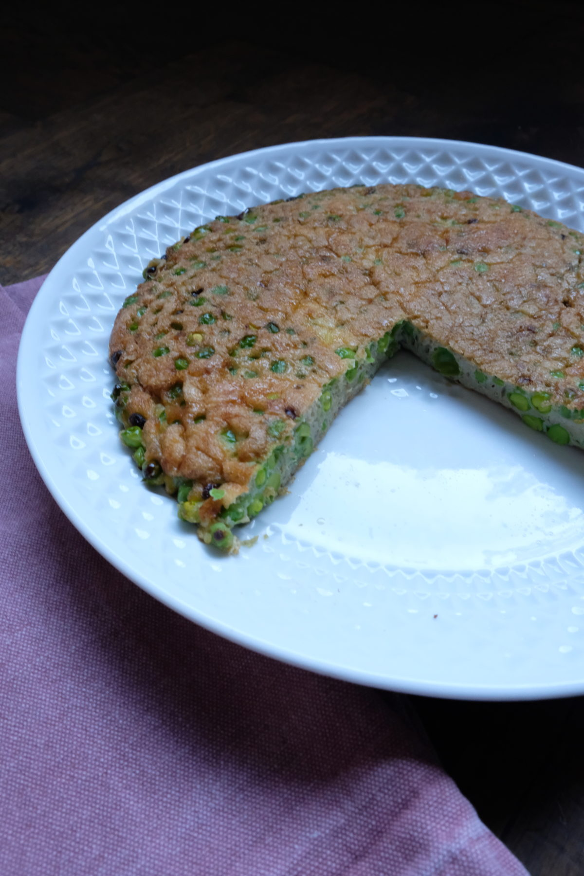 Green Pea and Pesto Omelette — Delicious & Sons