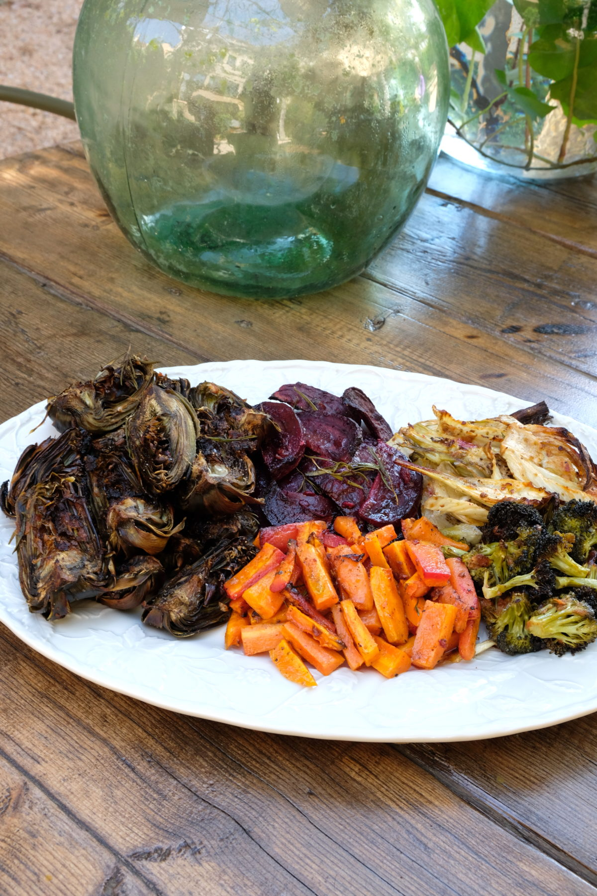 Oven Roasted Vegetables with Pesto Rosso and Aioli — Delicious & Sons