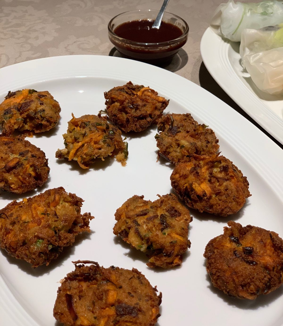 Tofu Seaweed Fritters with Sweet Olive Soy Dipping Sauce by Ricky Mandle — Delicious & Sons