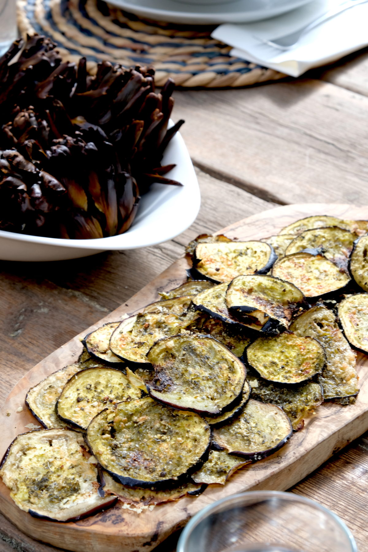 Eggplant Pesto Crisps by Ricky Mandle — Delicious & Sons