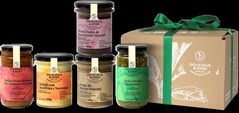 Pack Regalo Salsas, Pesto, Paté y Olivada — Delicious & Sons