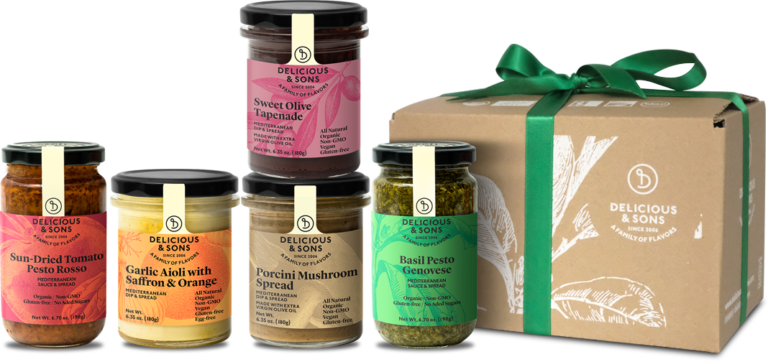 Gift Box – Sauces, Pesto, Spread and Tapenade (SPAIN ONLY) — Delicious & Sons